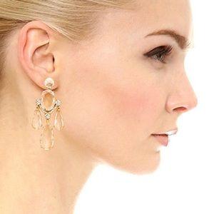 Kate Spade Crystal Cascade Statement Earrings